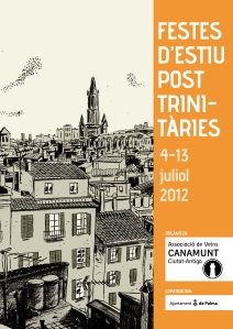 Cartell de les Festes d'Estiu Post-Trinitàries 2012